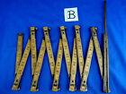 """Vintage 72"""" Lufkin Wooden Folding Ruler Extension with Brass Slide"""