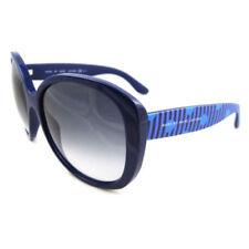 Occhiali da sole da donna plastici blu prodotta in Italia