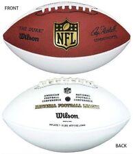 WILSON OFFICIAL NFL AUTOGRAPH WHITE PANEL FOOTBALL BALL THE DUKE WFT1192 HAW48