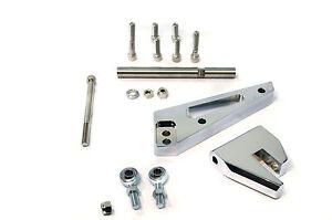 SBC Aluminum Chrome  Air Conditioning Support Brackets Kit SWP Sanden 508