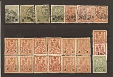 Poland-Group of 23 unused/used surcharged W W 1 era unlisted local stamps (1915)