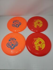 4 Wham-O Frisbee Discs 2 Red and 2 Orange Frisbees NEW Free Shipping