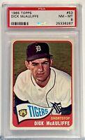 1965 Topps #53 Dick McAuliffe PSA NM-MT 8 Detroit Tigers