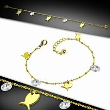 Stainless Steel G 00006000 olden With Chain Bracelet With Charms/Bracelet Of Fish