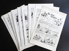 RARE histoire complète 37 planches originales Tex Bill La piste Mellies 1969