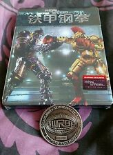 Real Steel bluray Blufans Viva like Steelbook - New and sealed - numbered coin