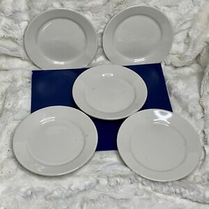Vintage Ironstone Buffalo China CAC Restaurant Ware 6.25 inch Saucer Plate (5)