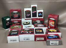 Hallmark Kiddie Car Classics,train,Car & Boat Christmas Ornament Nib Lot Of 17