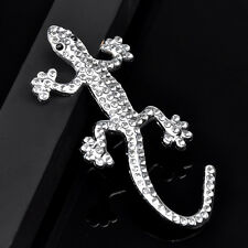 1x Auto Aufkleber 3D Chrom Emblem Gecko, Eidechse Logo Metall Silber Farbe neu