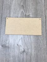 20cm x 10cm Wooden 3mm MDF Blank Plaque for Crafts