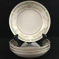 Set of 4 VTG Berry Bowls Roseville Japan Translucent Fine China 4135 Floral