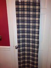 Ticche & Bea Shower Curtain Blue Plaid 68X71 New