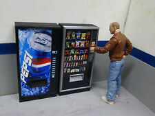 Combo Vending Machines2 Drink Snack Action Figure Garage Diorama Dollhouse 1/10