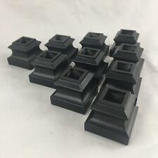 COFFMAN STAIR PARTS 800990 SATIN BLACK FLAT-IRON TALL SHOW W/SCREW M-06~10 PACK