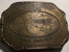 SOUTHERN COMFORT Brass Belt Buckle  A-36 Vintage Wear An Original NICE