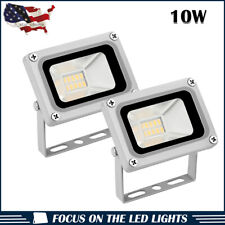 2 x 10W LED Flood Light Cool White Outdoor Security Garden Spot Lamp US Stock