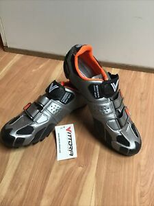 Vittoria Viper MTB Shoes Grey Eu 46 US 12 Made In Italy New w/Box