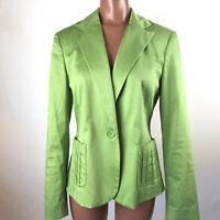 INC International Concepts Womens Green Lined Jacket Blazer Medium