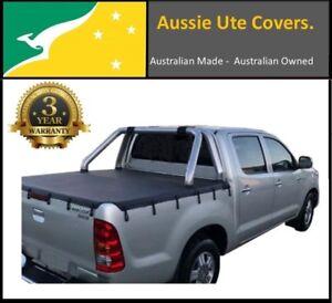 TOYOTA HILUX SR5 A-Deck DUAL CAB UTE TONNEAU SOFT COVER April 2005 to 2015