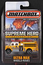 2015 Matchbox Supreme Hero International® Pumper YELLOW/BOONE COUNTY FIRE/MOC