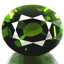 1.22 ct Natural Dazzling Oval-cut AAA Chrome Green IF Tourmaline (Brazil)
