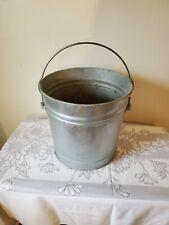galvanized metal bucket 12-1/2 inches tall flower garden planter industrial