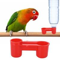 20X Pet Bird Drinker Feeder Water Bottle Cup Farm Chicken Pigeon Poultry Waterer