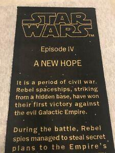"Star Wars Episode IV A New Hope Title Crawler Crawl Text Rug, 26"" x 77"", EUC"