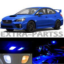 10x Blue Interior LED Light Package Kit Dome Map for 2015-2016 Subaru WRX STI