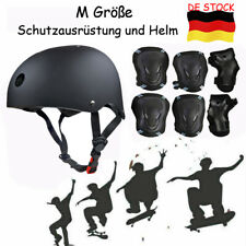 DE 7pc Knieschutz Ellbogenschützer Safety Fahrrad Helm Skateboard Schutz Pad Set
