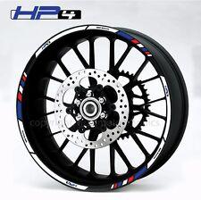 BMW HP4 motorcycle wheel decals 12 rim stickers laminated set s1000rr motorrad