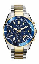 Bulova Men's 98B230 Marine Star Chronograph Quartz Blue Dial Two Tone Dive Watch