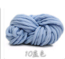 Super Thick Chunky Roving Woolen Bulky Yarn for Crochet Blanket Scarf Lot/250g