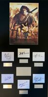 LAST OF THE MOHICANS, DANIEL DAY LEWIS film hand signed mounted frame