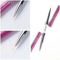 Nail Art Liner Brush Drawing Ultra-thin Line Pen Rhinestone Manicure Tool Tips