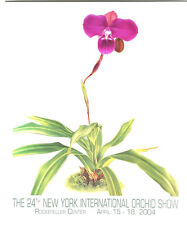 24th New York International Orchid Show 2004 Poster by Angela Mirro