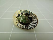 """BRAND NEW Don't Mess With The USA Tank Enamel Lapel Pin 1 3/8"""""""