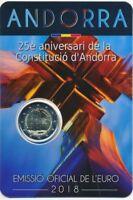Andorra 2 € Euro GM 2018 BU im Blister, 25 Jahre Verfassung von Andorra