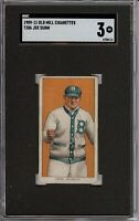 Rare 1909-11 T206 Joe Dunn Old Mill Back Brooklyn SGC 3 VG