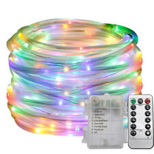 100 LED 8 Modi Lichterschlauch RGB Lichterkette mit Batterie Innen Außen Party