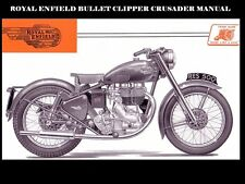 ROYAL ENFIELD CLIPPER BULLET CRUSADER WORKSHOP MANUAL for 250 Motorcycle Service