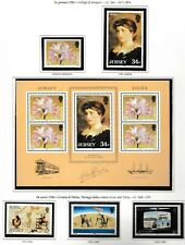 s35015 JERSEY 1986 MNH Complete year set Annata completa 3 scans
