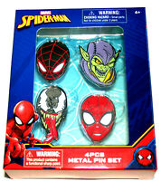 4 Marvel Comics Venom Green Goblin Spider-Man Backpack Pin Set New 2018