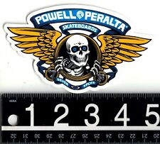 POWELL PERALTA WINGED RIPPER STICKER Powell 5 in x 3 in Blue Skateboard Decal