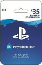 Ricarica Portafoglio PlayStation Store (PSN) - 35€ - ITA