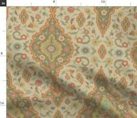 Indian Persian Damask Renaissance Medieval Spoonflower Fabric by the Yard