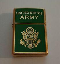 Rare Luxurious Heavy Plate Zippo Lighter United States Army circa 2005
