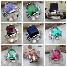 9 color Aquamarine Garnet  Onyx Amethsyt Topaz Wedding Valentine's Gift S110