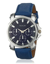 Texus(TXMW009) Blue Strap Chronolook Dial Watch for Men/Boys