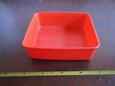 vintage Tupperware 1516 mini red square a way container snacks child no lid